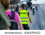 Small photo of BERLIN, GERMANY - JUNE 03, 2016: Security staff at the airfield. Exhibition ILA Berlin Air Show 2016