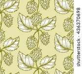 hand drawn engraving style hops ... | Shutterstock .eps vector #436370698