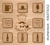 father's day vector icons... | Shutterstock .eps vector #436373212