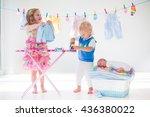 Newborn Child On Pile Of Clean...