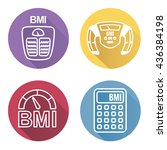bmi or body mass index icons | Shutterstock .eps vector #436384198