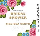 bridal shower invitation... | Shutterstock .eps vector #436389622