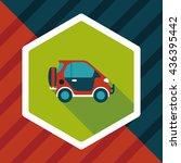transportation sports utility... | Shutterstock .eps vector #436395442