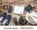 set of accessories for travel.... | Shutterstock . vector #436406392