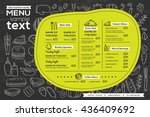 restaurant cafe menu template... | Shutterstock .eps vector #436409692