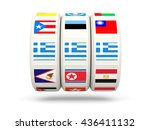 slots with flag of greece... | Shutterstock . vector #436411132