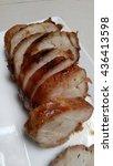 roasted pork tenderloin | Shutterstock . vector #436413598