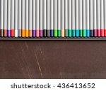 colored pencils  school ...   Shutterstock . vector #436413652