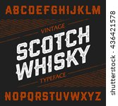 vintage scotch whisky typeface. ... | Shutterstock .eps vector #436421578