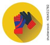 icon of football   goalkeeper... | Shutterstock .eps vector #436421782