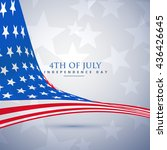 american flag in wave style.... | Shutterstock .eps vector #436426645