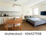 studio apartment interior | Shutterstock . vector #436427938