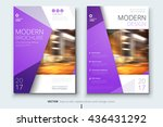 brochure design. corporate... | Shutterstock .eps vector #436431292