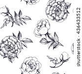 seamless background with roses. ... | Shutterstock .eps vector #436433512