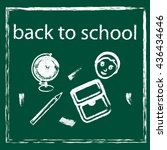 back to school background ... | Shutterstock .eps vector #436434646