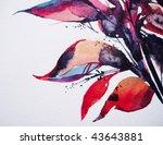 hand painted watercolour... | Shutterstock . vector #43643881