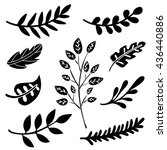 Leaves  Branches Hand Drawn...