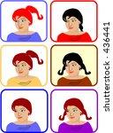several girls in color. color... | Shutterstock .eps vector #436441