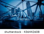 traffic on steel bridge tianjin ... | Shutterstock . vector #436442608