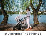 young mother walking her child...   Shutterstock . vector #436448416