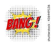 comic speech bubble cartoon... | Shutterstock .eps vector #436449136
