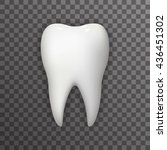 realistic tooth poster... | Shutterstock .eps vector #436451302