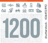 set of 1200 line icons. the... | Shutterstock .eps vector #436451992