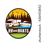 rv and boats   Shutterstock .eps vector #436453852