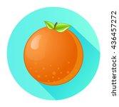 orange flat design isolated on... | Shutterstock .eps vector #436457272