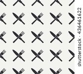 seamless flat pattern with...   Shutterstock .eps vector #436461622