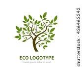 stylized vector simple tree...   Shutterstock .eps vector #436463242