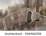 running sport. man runner legs... | Shutterstock . vector #436466206