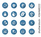 medical and health care icons... | Shutterstock . vector #436468222