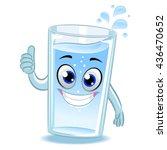 vector illustration of glass of ... | Shutterstock .eps vector #436470652