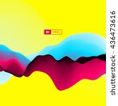3d wavy background. dynamic... | Shutterstock .eps vector #436473616