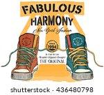 vector illustration shoes | Shutterstock .eps vector #436480798