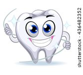 vector illustration of tooth... | Shutterstock .eps vector #436482352