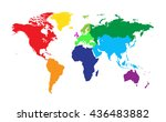 world map colored vector | Shutterstock .eps vector #436483882