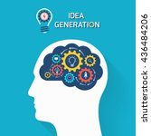 idea generation business... | Shutterstock .eps vector #436484206
