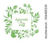 fresh herbs store emblem. green ... | Shutterstock .eps vector #436485235