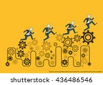 vector business and competitive ... | Shutterstock .eps vector #436486546