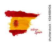 symbol  poster  banner spain.... | Shutterstock .eps vector #436488406