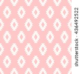 seamless aztec pattern with... | Shutterstock .eps vector #436492522