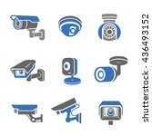 video surveillance security... | Shutterstock . vector #436493152