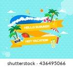 summer illustration | Shutterstock .eps vector #436495066