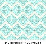 seamless line art pattern of... | Shutterstock .eps vector #436495255