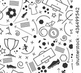 football icons set. vector... | Shutterstock .eps vector #436499542