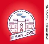 vector line san jose badge | Shutterstock .eps vector #436499782