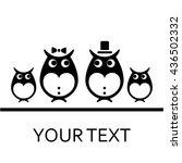 owls vector logo. isolated...   Shutterstock .eps vector #436502332