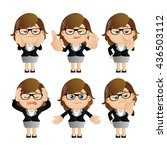 cute set   set of... | Shutterstock .eps vector #436503112